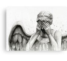 Doctor Who Weeping Angel - Don't Blink! Canvas Print