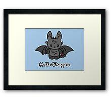 Hello Dragon Framed Print