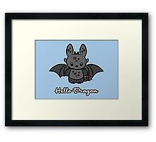 Hello Dragon Framed Print