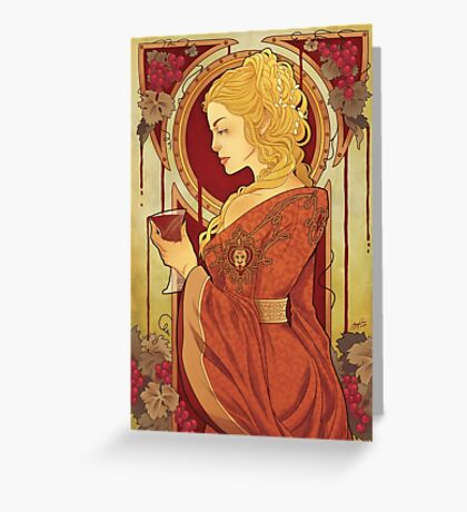 Wine and Blood Greeting Card
