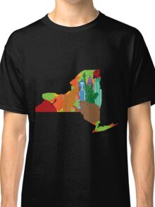 State of New York Official Map Symbols Illustration Classic T-Shirt