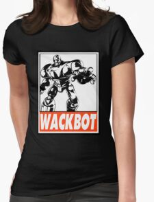 Sentinel Wackbot Obey Design Womens Fitted T-Shirt