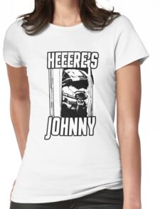 Heeere's Johnny - HALO Spartan 117 Womens Fitted T-Shirt