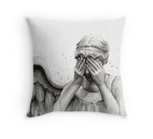 Doctor Who Weeping Angel - Don't Blink! Throw Pillow