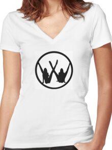 VW leg girls black design Women's Fitted V-Neck T-Shirt