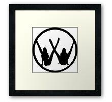 VW leg girls black design Framed Print