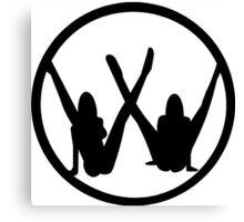 VW leg girls black design Canvas Print