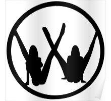 VW leg girls black design Poster
