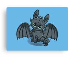 How to Train Your Baby Dragon Canvas Print