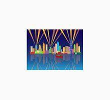 Hong Kong City Skyline Night Color Panorama Illustration Unisex T-Shirt