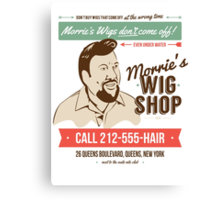 Morrie's Wig Shop Canvas Print
