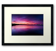 He is like the light of morning at sunrise Framed Print