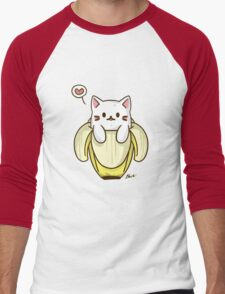 Bananya Cat Men's Baseball ¾ T-Shirt