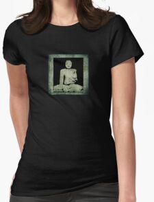 Green Tranquil Buddha Womens Fitted T-Shirt