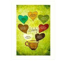 What my #Tea says to me - February 12, 2014 Poster Art Print