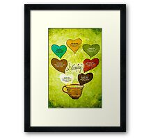 What my #Tea says to me - February 12, 2014 Poster Framed Print