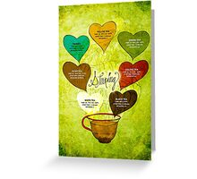 What my #Tea says to me - February 12, 2014 Poster Greeting Card