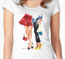 Girls Women's Fitted Scoop T-Shirt