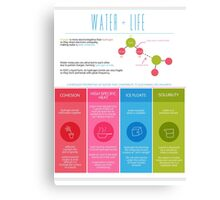 Water is Life Infographic Poster Canvas Print