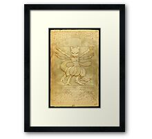 Vitruvian Monster Framed Print