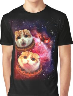 Waffles the Cat UFO  Graphic T-Shirt