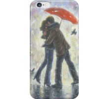 KISS IN THE RAIN iPhone Case/Skin
