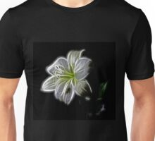 White shiny Flower Unisex T-Shirt