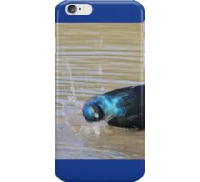 Glossy Starling - Blurred Joy - African Wild Bird Background iPhone Case/Skin