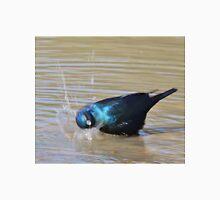 Glossy Starling - Blurred Joy - African Wild Bird Background Unisex T-Shirt