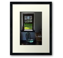 A Chair by a Window Framed Print