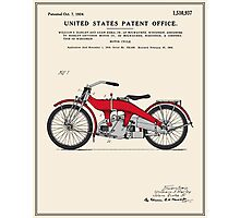 Motorcycle Patent - Colour Photographic Print