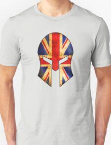 SPARTAN HELMET GREAT BRITAIN ENGLAND FLAG SPARTA SPARTACUS LONDON LIVERPOOL LEEDS SCOTLAND WALES Unisex T-Shirt