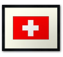 Flag of Switzerland Framed Print