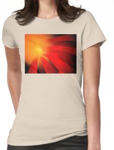 Red Daisy Womens Fitted T-Shirt