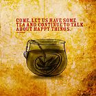 What my #Tea says to me - November 5, 2014 Pillow by catsinthebag
