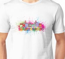 San Francisco Skyline Paint Splatter Illustration Unisex T-Shirt
