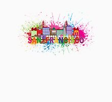 San Francisco Skyline Paint Splatter Illustration Unisex T-Shirt