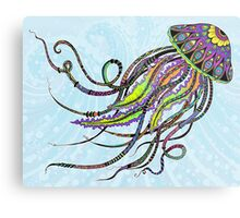 Electric Jellyfish Metal Print