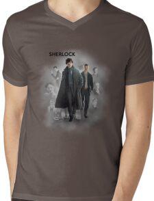 BBC Sherlock Mens V-Neck T-Shirt