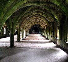 Dormitory undercroft - Fountains Abbey, Fountains, North Yorkshire, UK by Photography  by Mathilde