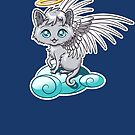 Angel Cat Chibi by Stephanie Whitcomb