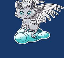 Angel Cat Chibi by Stephanie Jayne Whitcomb