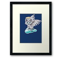 Angel Cat Chibi Framed Print