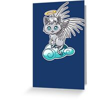 Angel Cat Chibi Greeting Card