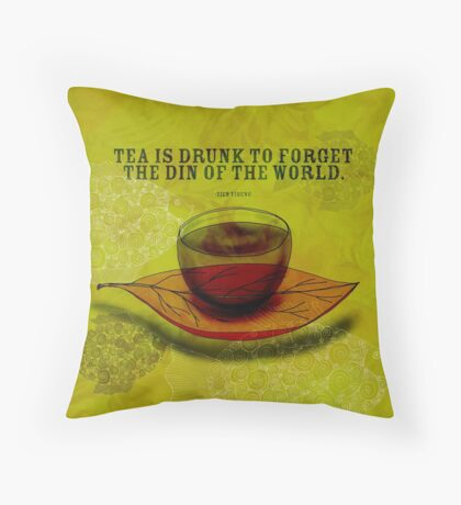 What my #Tea says to me - October 4, 2012 Throw Pillow