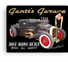 Gantt's Garage Open All Night T-Shirt from VivaChas! Canvas Print