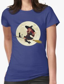 Red Witch Womens Fitted T-Shirt