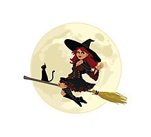 Red Witch Photographic Print