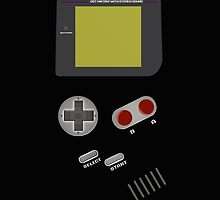 Retro Video Game Boy Console iPad Case / iPhone 5 / iPhone 4 Case  / Samsung Galaxy Cases  / Pillow / Duvet / Tote Bag / Prints by CroDesign