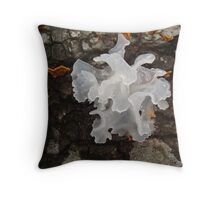 Pretty, frilly fungus (Tremella fuciformis) Throw Pillow